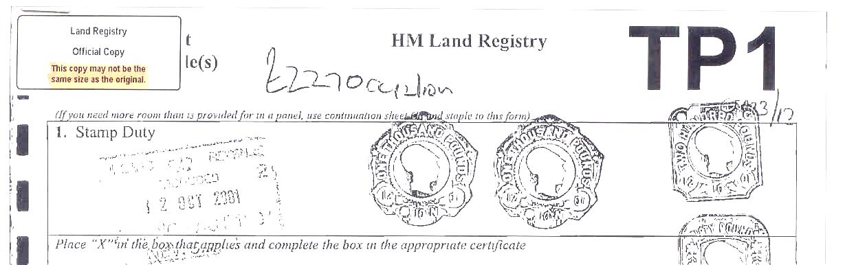 Land Registry Tr1 >> Conveyance Deeds Deed Plans