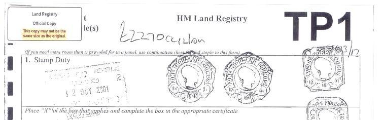Land Registry Tr1 >> Boundary Advisor | Boundary Disputes UK