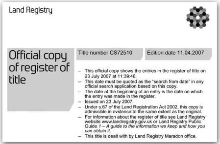Land Registry Tr1 >> Boundary Advisor Boundary Disputes Uk